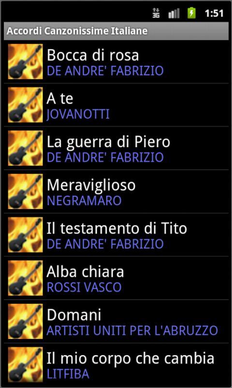 Best Italian Songs Chords- screenshot