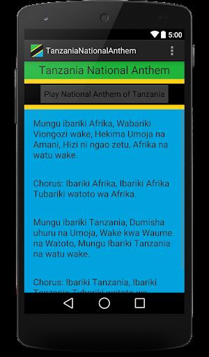 TanzaniaNationalAnthem