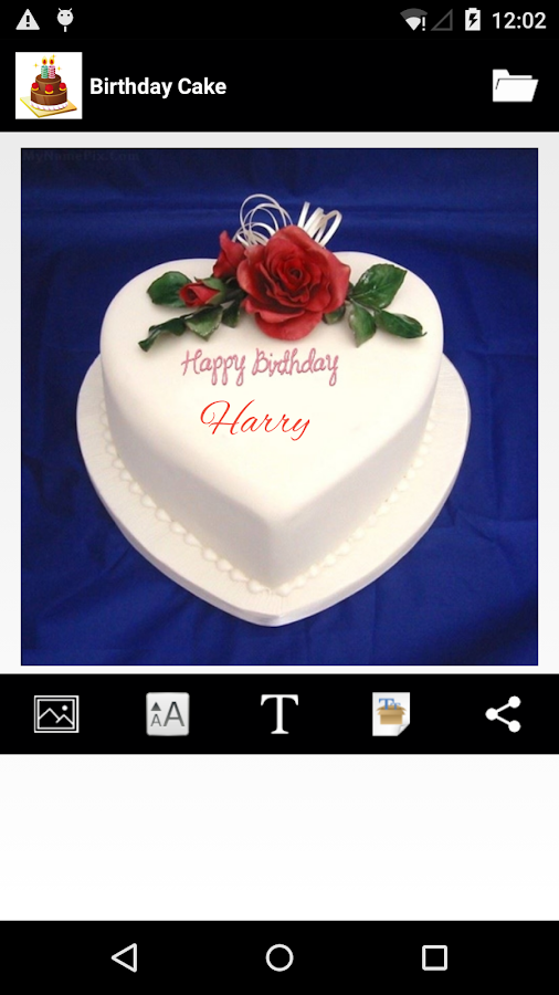Cake Images Satish : happy birthday card with name edit for facebook
