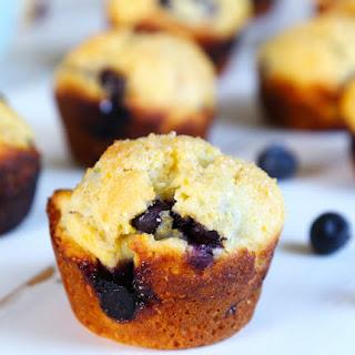 Skinny Gluten Free Blueberry Corn Muffins