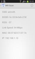 Screenshot of WIFI Scan