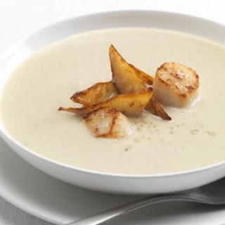 Artichoke And Vanilla Soup With Seared Scallops