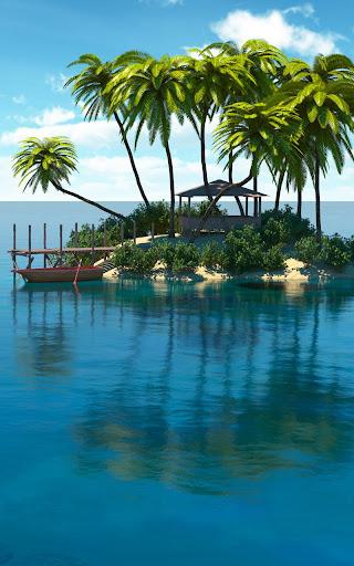 楽園の島のライブ壁紙