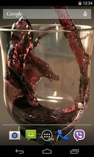 Glass of Wine Video LWP- screenshot thumbnail