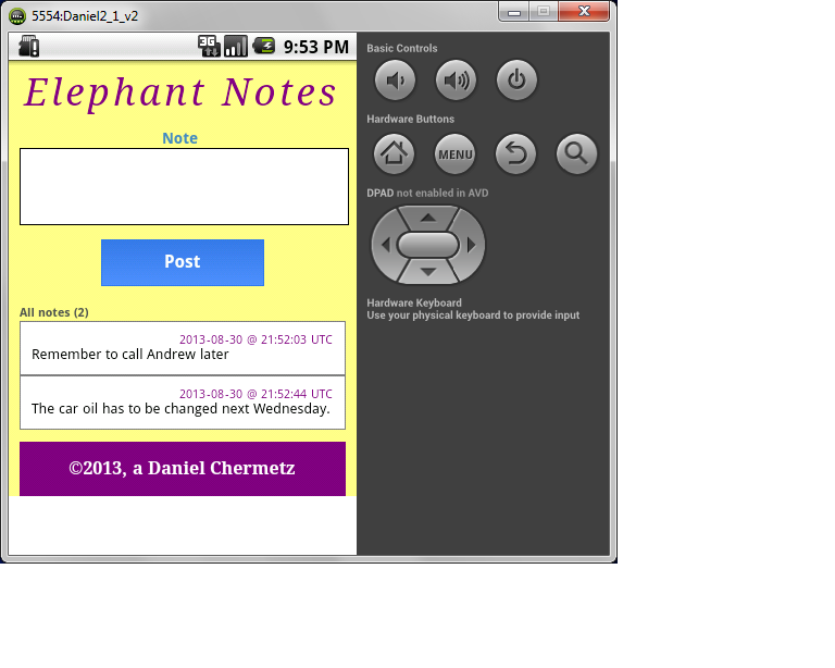 Elephant Notes- screenshot