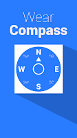 Screenshot of Compass for Wear