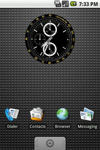 Tachymetre Clock Widget 2x2 - screenshot