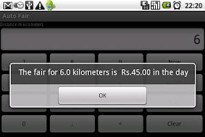 Screenshot of Delhi Auto-fare