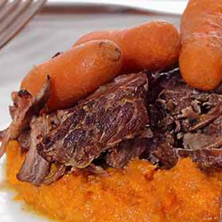 Paleo Pot Roast with Sweet Mashed Potatoes