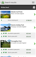 Screenshot of Pitchup.com campsite booking