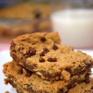 Oatmeal Chocolate Chip Peanut Butter Bars.