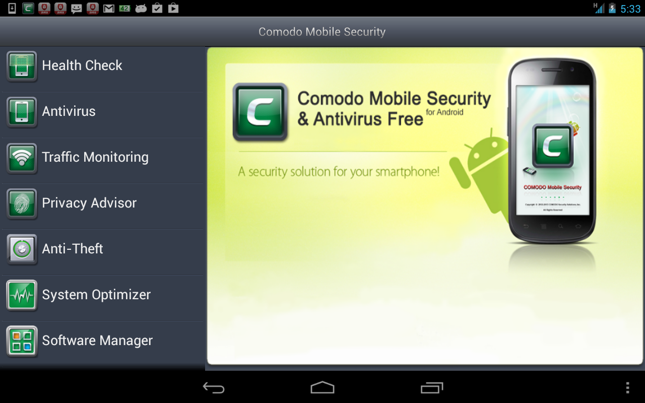 Comodo Security & Antivirus - Best Antivirus for android users