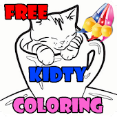 free kidty coloring paint