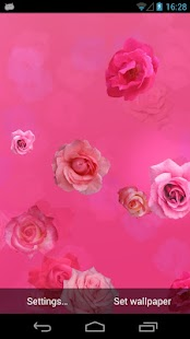 Pink Roses Live Wallpaper - screenshot thumbnail