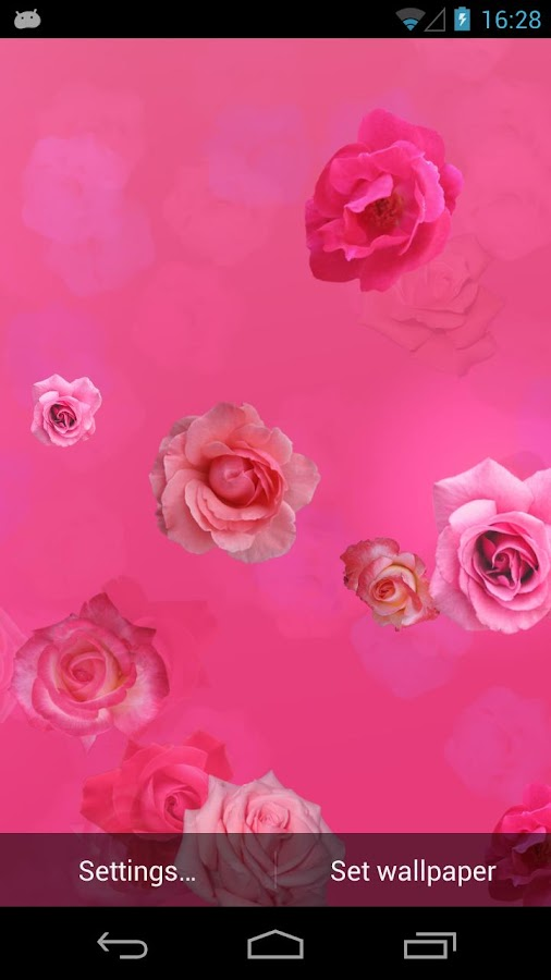 Pink Roses Live Wallpaper - screenshot