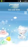 Screenshot of Rocket Caller ID Cloud Theme