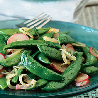 Sauteed Radishes and Sugar Snap Peas with Dill.