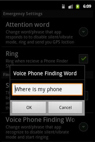 PhoneFinder - screenshot