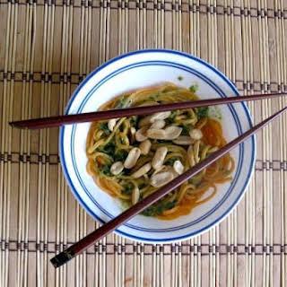 Cilantro Peanut Sauce and Noodles.