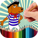 Coloring Book Funny Dogs icon