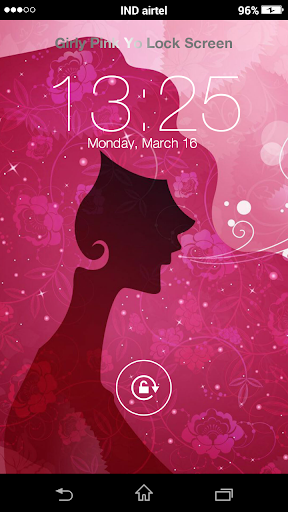 Girly Pink Yo Lock Screen