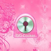 GO Locker Theme flowers pink