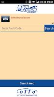 Screenshot of OBD Fault Codes Lite