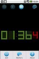 Screenshot of 5x7 LED chronometer