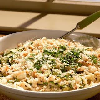 Perciatelli with Zucchini and Breadcrumbs.