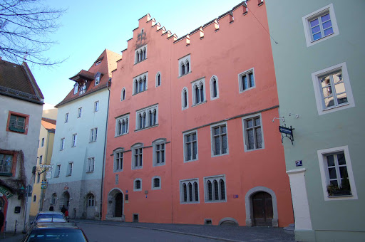 Runtingerhaus-in-Regensburg-Germany - The medieval town of Regensburg, Germany, contains many notable buildings that span almost 2,000 years. You'll find ancient Roman, Romanesque and Gothic structures.