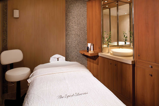 Silver_Wind_spa - The spa treatment rooms aboard Silver Wind have a soothing ambience and feature wood flooring, fine tiling and lovely wall décor.