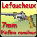 Lefaucheux pinfire revolver icon