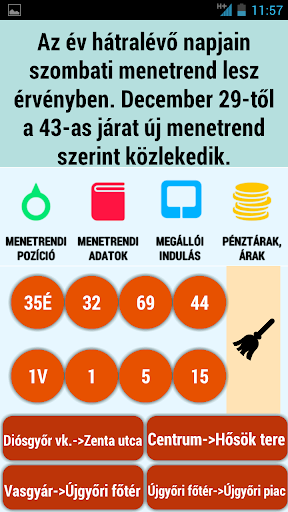 Támogatói Miskolc menetrend