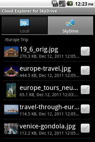 Cloud Explorer for OneDrive- screenshot