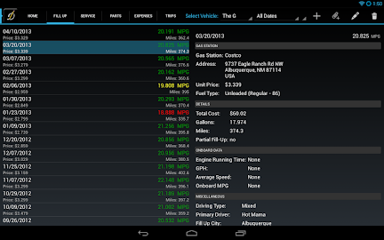 DriverDiary - Gas Mileage Screenshot 18