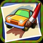 Coloring Book Car-draw game