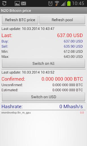 N2O Bitcoin cena Slush BETA