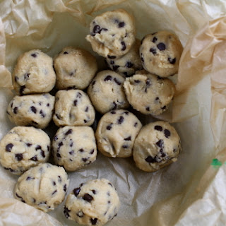 New and Improved Cookie Dough Truffles.