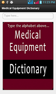 Medical Equipment Dictionary- screenshot thumbnail