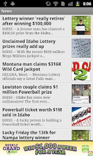 Idaho lottery numbers fromKTVB - screenshot thumbnail