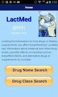 Screenshot of LactMed