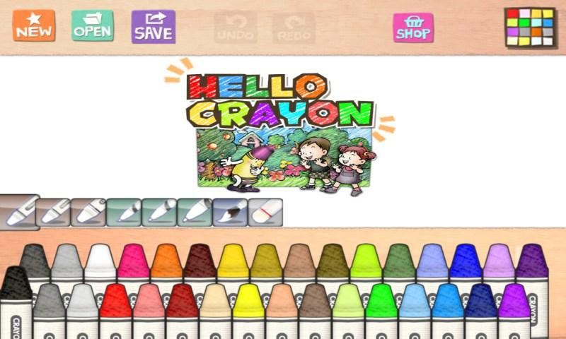 Hello Crayon - screenshot