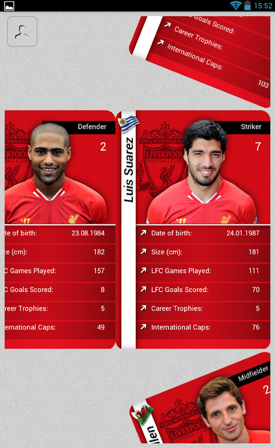 Liverpool FC Stat Attack 2014 - screenshot