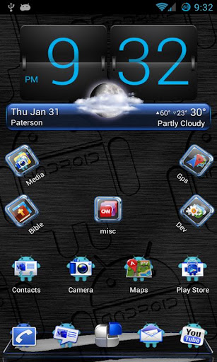 Blue Android Next Launcher 3D