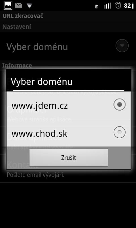 URL Zkracovač pro Twicca - screenshot