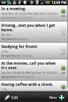 Screenshot of Siesta Text: Auto Away Message