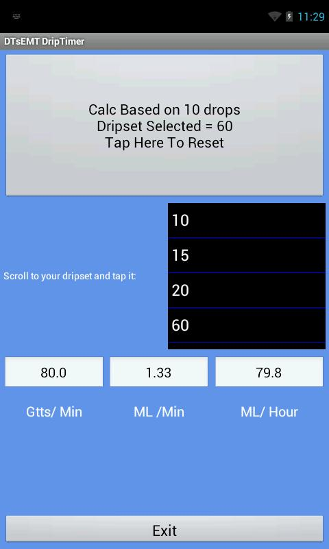 Drip Timer - screenshot
