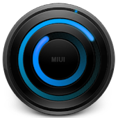 MIUI Spiral BLUE Analog Clock