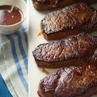 New York Strip Steaks with Red-Wine Sauce