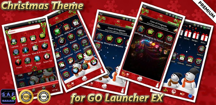 CHRISTMAS GO Launcher EX Theme 1.0.7 free for android